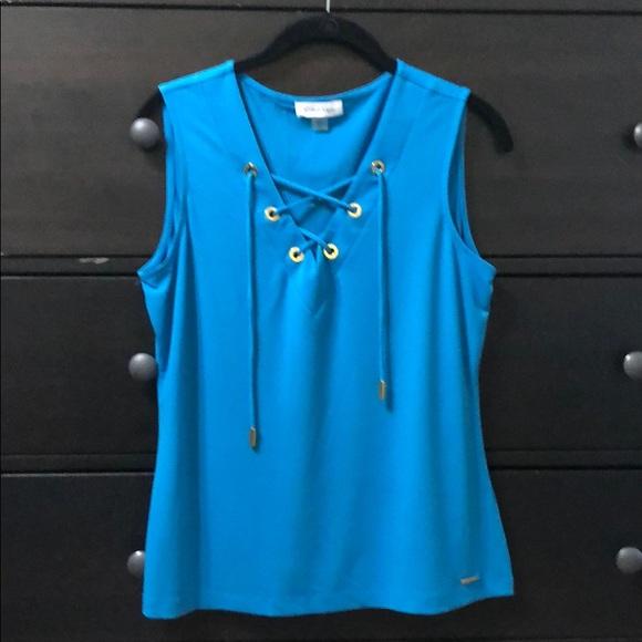 Calvin Klein Tops - Calvin Klein Blue Blouse
